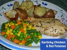 Garlicky Chicken and Red Potatoes