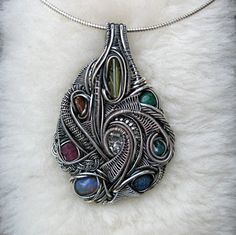 Sterling Silver wire wrapped Tibetan Quartz Opal by MineralSynergy, $555.00