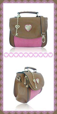 #bags#pastel#winter#girly#romantic#heart#key#pink#coffee