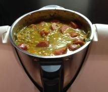 Recipe Lentil Soup - Ratz Fatz von Teufelschen - Recipe in the category Soups - Rezept Thermomix - Thermomix Soup, Good Food, Yummy Food, Cooking Chef, Healthy Soup Recipes, Lentil Recipes, Healthy Foods, Lentil Soup, Seafood Dishes