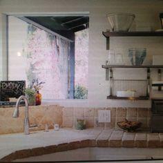 ceramic tile countertop  A very cheap way to do your kitchen/bathroom countertops.