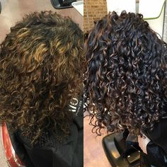 Color Correction - From Foiled highlights  to Pintura highlights   painted curl by curl . Styled with Decadence (of course ! ) No -poo , One Conditioner & Ultra defining gel
