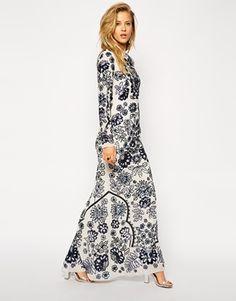 Enlarge Needle & Thread Lace Petal Embellished Maxi Dress