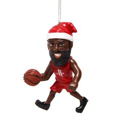 Houston Rockets James Harden Elf Ornament