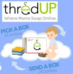 http://www.thredup.com/Bessey235070 My Invitations                                                                           ThredUp is a fun website where you swap your kid's used clothes and toys for new to you clothes and toys. You simply pay $5 per box plus flat rate shipping. Use the link above to join, and you and I each get a $5.00 credit.
