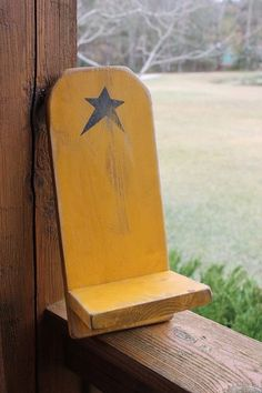 Primitive Wood Crafts On Pinterest | PRIMITIVE Mustard Wall Shelf with Star by ... | Simple Wood Crafts ...