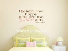 I believe that happy girls are the prettiest by WallArtShowcase, $15.95