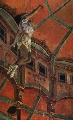 Edgar Degas. Mademoiselle La La al Circo Fernando(1879) National Gallery, Londra