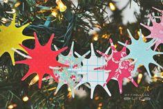 My Fabuless Life :: DIY Christmas Tree Garland using Cricut Jubilee cartridge