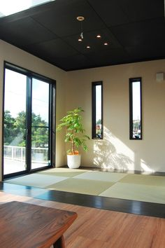 Onocom Design Center Modern Japanese Interior, Japanese Home Decor, Japanese House, Modern Interior, Exterior Design, Interior And Exterior, Washitsu, Tatami Room, Cheap Houses