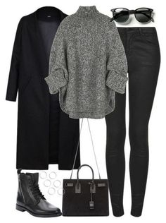 35 Beautiful Winter Outfits For Women - mode All Black Outfits For Women, Black And White Outfit, Black Women Fashion, Look Fashion, Winter Fashion, Clothes For Women, Dress Black, Women's Clothes, Cheap Fashion
