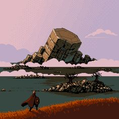You can really feel the wind in this pixel art scene.