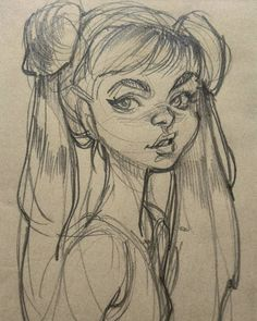 WEBSTA @ loisvb - A sailor moon-ish doodle drawn during a long phone…