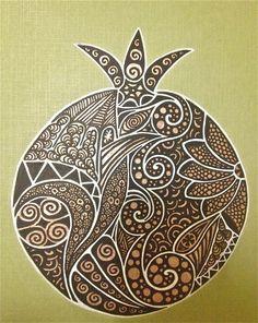 pomegranate doodle
