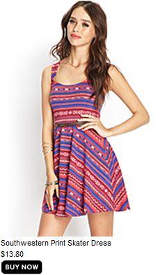 Southwestern Print Skater Dress