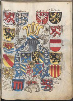 Grünenberg, Konrad: Das Wappenbuch Conrads von Grünenberg, Ritters und Bürgers zu Constanz um 1480 Cgm 145 Folio 96