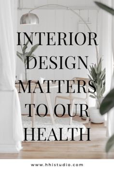 Interior Design matters to our mental and physical health, influenced by the interior spaces we inhabit. Start your 2019 new year, new you goals with your home or office in mind. Establish your 2019 new home health goals now! Then, slowly make the changes Contemporary Interior Design, Home Interior, Modern Interior Design, Luxury Interior, Apartment Decoration, Room Decorations, Industrial Style Kitchen, Industrial Bathroom, Home Health
