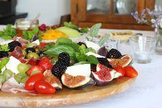 Tábua de fruta e queijo do Blog da Carlota
