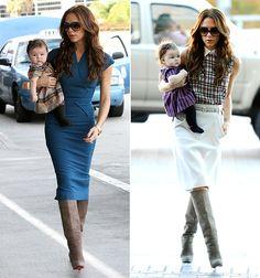 Victoria Beckham. Stylish mama.
