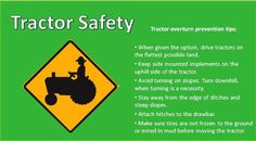 Today's Farm Safety Tip is on Tractor Safety!
