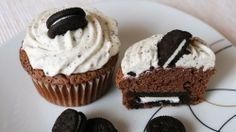 Ez lesz az új kedvenced! Oreo-muffin! Oreo, Cupcakes, Cookies, Breakfast, Recipes, Food, Minden, Crack Crackers, Morning Coffee