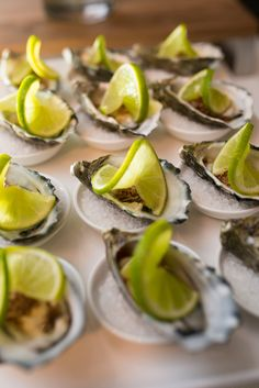 Oyster canapes