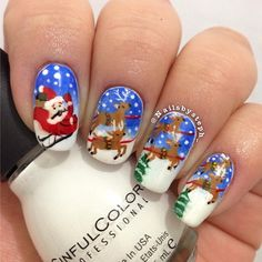 Christmas nails www.VictoriasBeautySupplies.co.uk