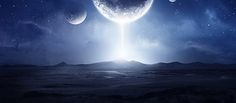 Sci-Fi Landscape with Lighting Effects