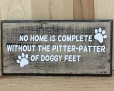 Pet wood sign gift for pet lover gift for dog lover dog Wood Signs Sayings, Sign Quotes, Dog Signs, Funny Signs, Baby Outfits, Distressed Signs, Custom Wooden Signs, Pallet Signs, Gifts For Pet Lovers
