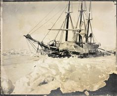 The ship Fram in the ice of the Arctic Ocean, March 1895