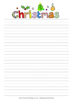 Christmas design writing paper - blank
