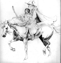 Gandalf and Pippin © Catherine Karina Chmiel (Kasiopea)