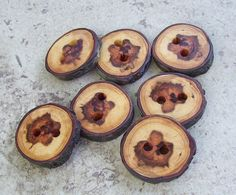 Fab wooden buttons.
