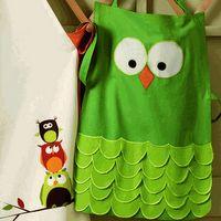 owl apronhttp://pinterest.com/pin/160899718/#