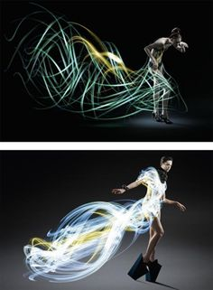 dresses made from flash lights