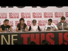 One Direction This Is Us press conference: Part 1 - YouTube