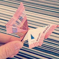 Regalo de boda DIY. Origami con billetes.