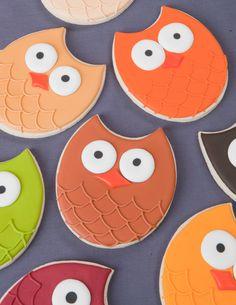 Owl Shaped Food Ideas   ... cutter ivory food color orange food color leaf green food color gold