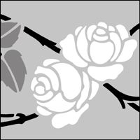 "Rambling Rose stencil design from The Stencil Library in UK. Design #278, 4 x 17"" (102 x 432mm), £26.95"