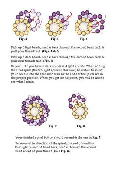 Spiral Button Free Bead Pattern by Karole Conaway Page 2:
