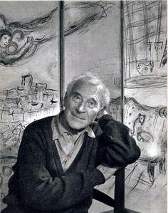 Marc Chagall -en ruso Марк Захарович Шагал (Mark Zajárovich Shagal)-; (Vítebsk, 7 de julio de 1887 - Saint-Paul de Vence, Francia, 28 de marzo de 1985) fue un pintor francés de origen bielorruso. Nació en Vítebsk (Bielorrusia) siendo el mayor de nueve hermanos. Su nombre natal fue Moishe Shagal (Мойше Шагал) o Movsha Jatskélevich Shagálov (Мовшa Хацкелевич Шагалов). ---->