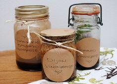 3 Vinaigrette Recipes by #collectandcarry
