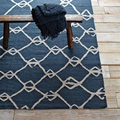 Venda Dhurrie | west elm love the imperfect lines and contrast of this rug