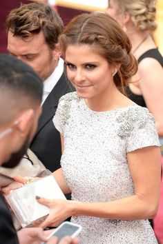 More Pics of Maria Menounos Braided Updo