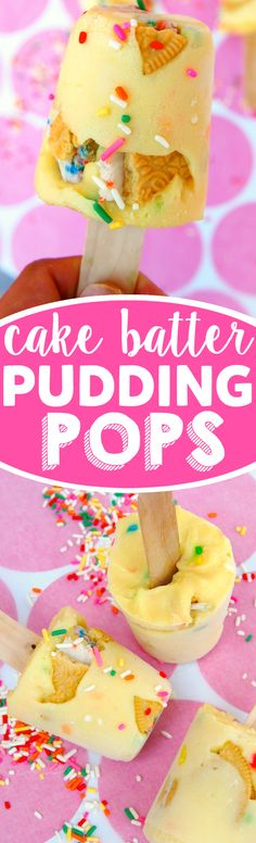 Cake Batter Pudding Pops! A frozen treat that is almost embarrassingly easy!