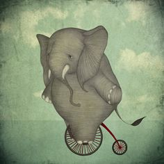 I loved elephants as a child.  And otters, and penguins and pandas and lynxs and ...I liked this pic.