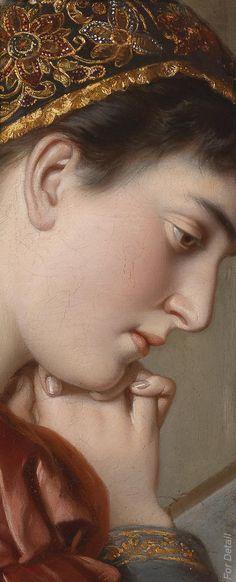 """"""" F. Schurig - Im Gebet - 1889 - Detail """""""