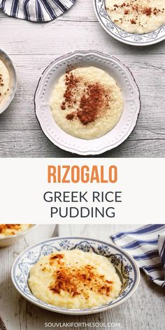 Greek Dessert Recipes, Greek Sweets, Greek Recipes, Just Desserts, Delicious Desserts, Yummy Food, Greek Rice Pudding, Rice Pudding Recipes, Fun Baking Recipes