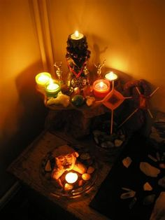 Litha altar 2012, via Flickr.  Litha - Summer Solstice - Pinned by The Mystic's Emporium on Etsy