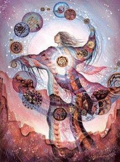 At the molecular level, the quantum level, a shaman will change their energy field to interact with the energy field of living and non-living objects.